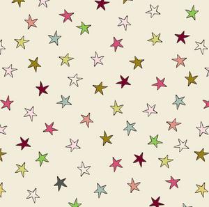 Bilde av Bomull - stjerner i ulike farger