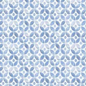 Bilde av Bomull Blue Jubilee - blå sirkelmønster