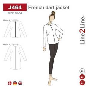 Bilde av Line2Line J464 Jakke med skrå brystinnsnitt