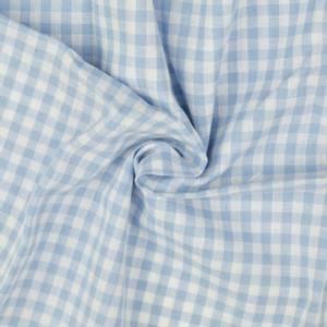 Bilde av Bomull - Lys blå smårutete