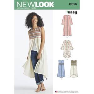 Bilde av New Look 6514 Jakke, vest og kåpe