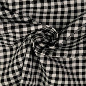 Bilde av Bomull - sort smårutete