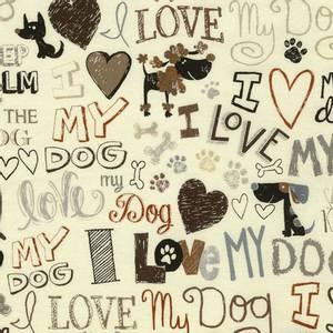 Bilde av Bomull - I Love My Dog