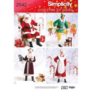 Bilde av Simplicity 2542 Kostyme til jul. Voksen