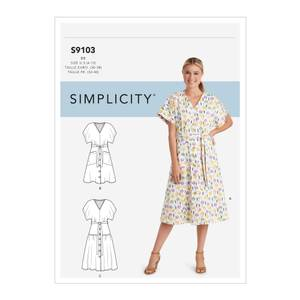 Bilde av Simplicity S9103 Kjole med flere variasjoner