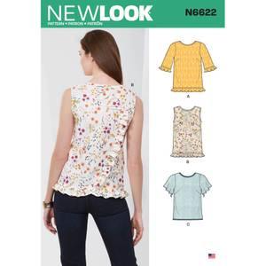 Bilde av New Look N6622 Singlet, topp og genser