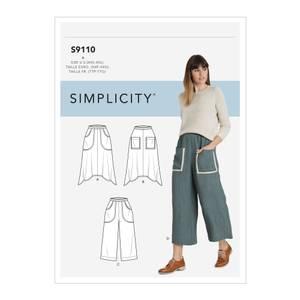 Bilde av Simplicity S9110 Skjørt og bukse med lommer