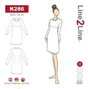 Bilde av Line2Line K286 Kjole med empire søm