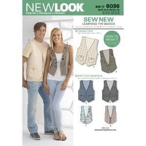 Bilde av New Look 6036 Vest til dame og herre
