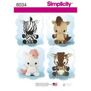 Bilde av Simplicity 8034 Kosedyr