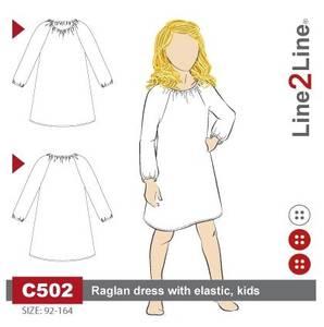 Bilde av Line2Line C502 Kjole med raglanermer til barn