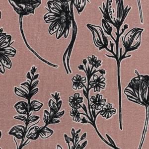 Bilde av French Terry - Blomster gammelrosa