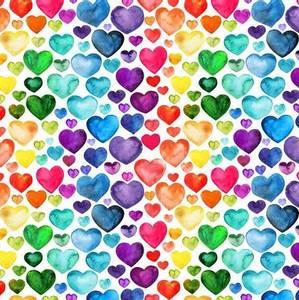 Bilde av Jersey digital hjerter i regnbuefarger