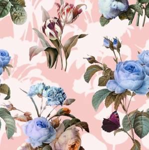 Bilde av Viscose blomster lysrosa